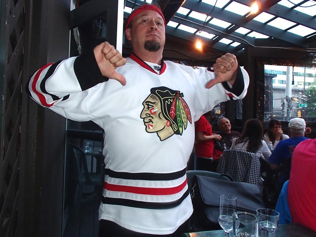 Hawks win. Men-o-pause happy.