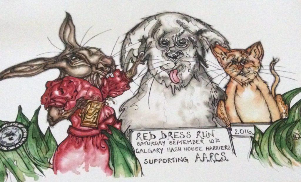 Run #1878 - Red Dress Poster